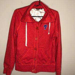 Philadelphia Phillies Women's Button Down Jacket M